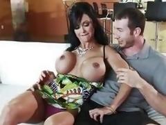 MILF Gems has her soft boobs groped
