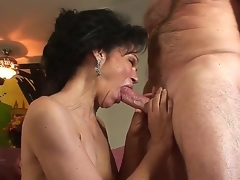 Horny granny with curly haired pussy Sage Hughes drilled by her old paramour Jay Crew