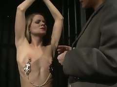 Femdom-goddess Katy Parker is trying to break Lillandra with her lusty and grueling interrogations