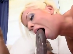 Dirty bitch named Jordan Blue gets a big black cock in her sweet fur pie