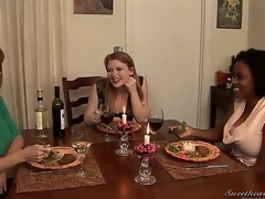Madison Young is having dinner with Alia Starr and Darla Crane, and they exchange embarrassing stories that get hotter and hotter and include some kinky public lesbian sex...