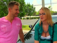 The cute lady in glasses is in need of extra cash, and the stud are ready to aid her, but the aid doesnt go for free. She receive to do the things decent ladies consider frivolous. But the blonde makes up her mind quickly.