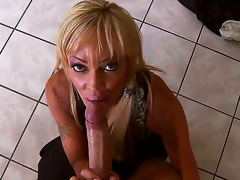 Enjoyable blonde slut Houston sucks Keiran Lees huge pecker and acquires it unfathomable in her rod craving cunt after that and it looks indeed breathtaking.