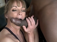 Working out receives the blood flowing, and being stimulated receives her juices flowing as well. Shayla LaVeaux takes on the girth of a Black cock for interracial excitement.