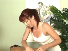 Tough masseuse Trinity Post cant stop rubbing Stephanie Swifts perfectly smooth and round buttocks here in this vid. The playgirl rocks ass too good even for a straight girl to resist!
