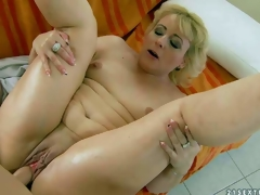 Fuck hungry mature blonde Barbie with small tits and hairless fur pie gets banged hardcore style by her young fuck buddy. Stud drills her wet experienced vagina in a multiformity of positions