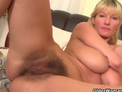Soccer moms with big tits and hairy indecent cleft masturbate