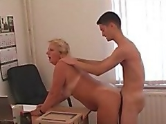 Office lady and her subordinate! Russian Amateur!