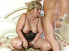 Lustful overweight mature anal fucked