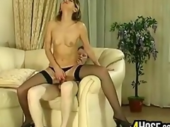 Older Woman Riding Cock