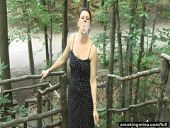 Outdoor milf smoking