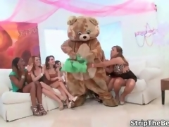 Horny group of party girls sucking male movie 2