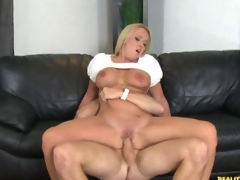 Hot blonde milf gets stuffed with a young cock