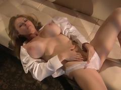Sensual Blonde MILF Dyanna Lauren Fingers Her Wet Pussy In Her Pants